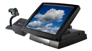 An EPOS system with clouds on its screen